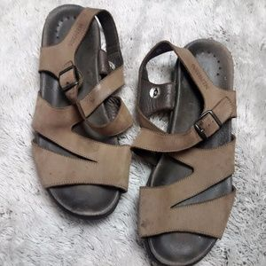 MEPHISTO Tan pale Leather Strap Sandals SZ 11 (41)